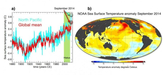 SST NOAA très hautes 2014